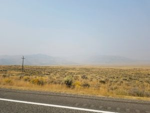 As of September 7, air quality outside Arco, Idaho is unhealthy for sensitive groups. In Missoula, Montana and other parts of the west, air quality is hazardous. Photo by Cody Eck.